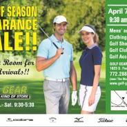 Golf Gear's Semi Annual Clearance Sale: Right Around the Corner