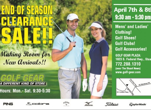Golf Gear's Semi Annual Clearance Sale: Right Around the Corner