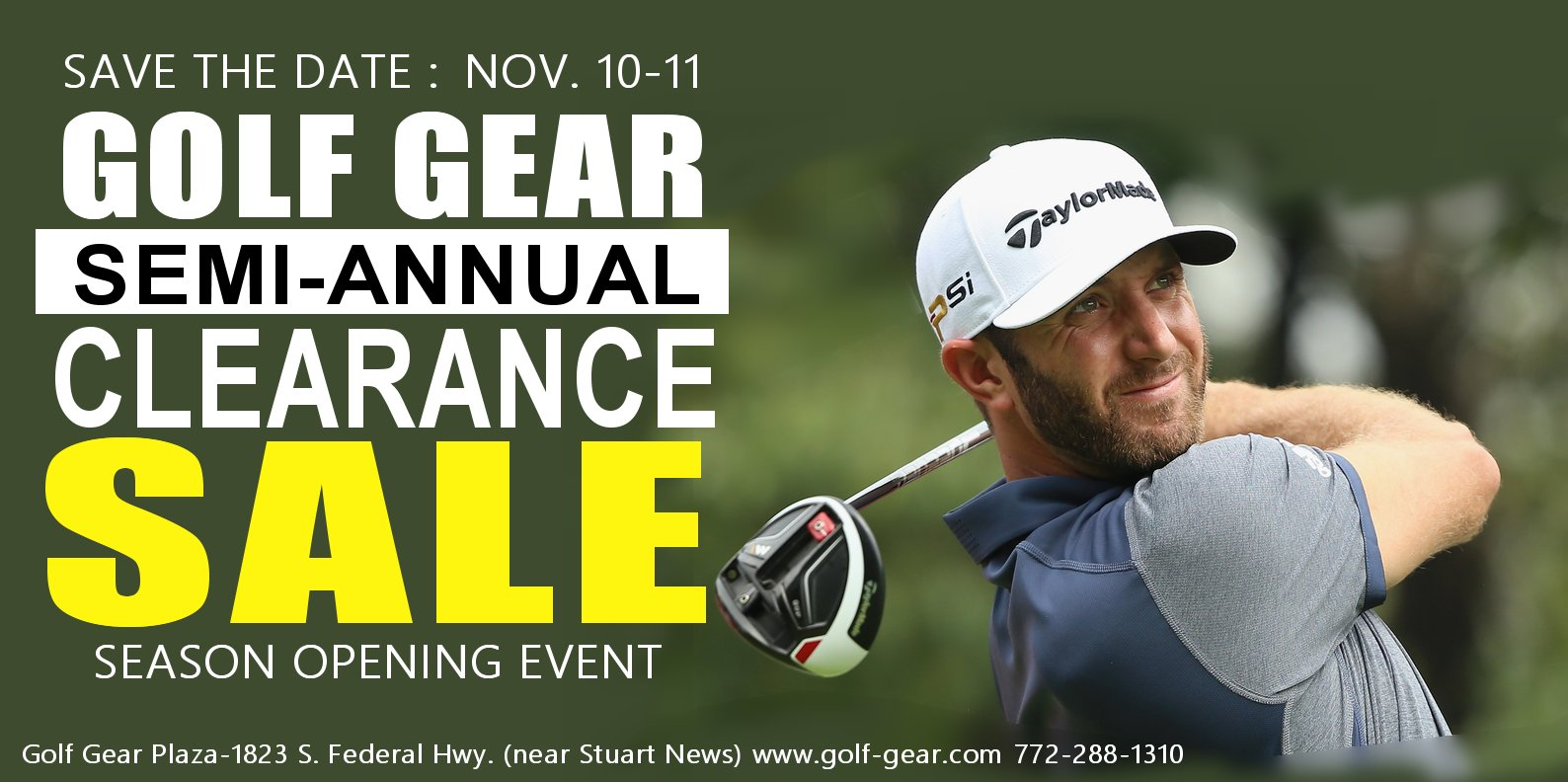 golf gear event