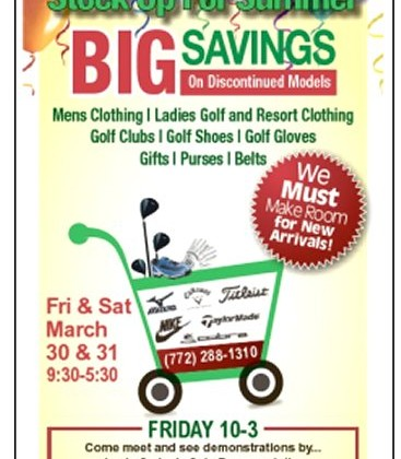 GOLF GEAR SEMI ANNUAL END OF SEASON SALE