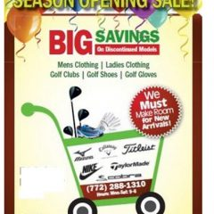 BIG SEMI-ANNUAL SEASON OPENING SALE – NOVEMBER 15TH AND 16TH 2019